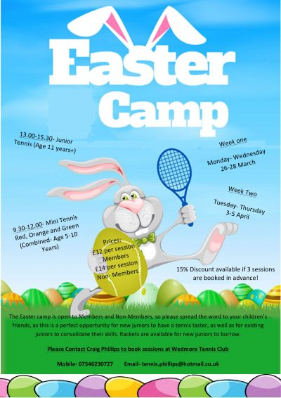 Wedmore-Tennis-Easter-Camp-2018